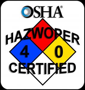 OSHA HAZWOPER 40 Certified BioRecovery Technicians